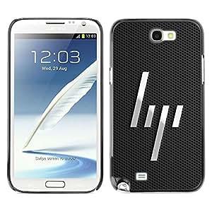 LECELL -- Funda protectora / Cubierta / Piel For Samsung Galaxy Note 2 N7100 -- Minimalist Lines --