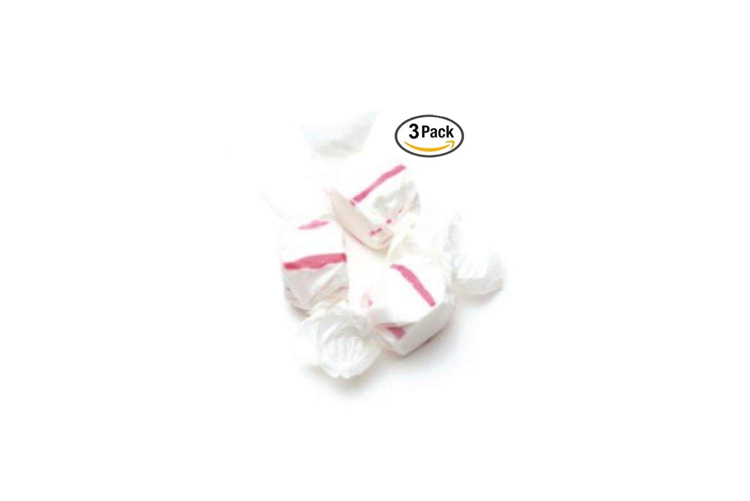 Red & White Peppermint Salt Water Taffy 48 Ounces by Sweets (3 Pack)