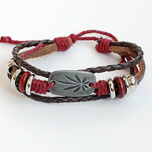 Woven Leaf Ring (Men's leather bracelet Women's leather bracelet Leaf bracelet Charm bracelet Rings bracelet Braided leather bracelet Woven leather bracelet Bands bracelet Bangle bracelet Fashion bracelet)
