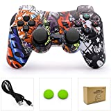 dainslef PS3 Controller Wireless Dualshock 3 PS3 Remote Ps3 Gamepad Best PS3 Joystick Gift for Kids Controller Bluetooth Sixaxis Gamepad for Playstation 3 with Data with Charge Cable (Horde) New