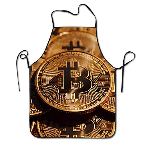 Bitcoin Coin Aprons For Women Men Gag Gift Grilling Cooking Attitude Chef Apron