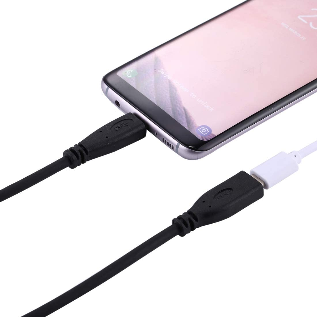 // LG G6 Xiaomi Mi6 /& for Galaxy S8 /& S8 Huawei P10 /& P10 Plus//Oneplus 5 Compact and Lightweight Cable 1m USB-C//Type-C 3.1 Male to USB-C//Type-C Female Connector Adapter Cable