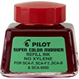 Pilot Super Color Permanent Marker Refill Ink, Xylene-Free, 1 Ounce Bottle with Dropper, Red Ink (48700)