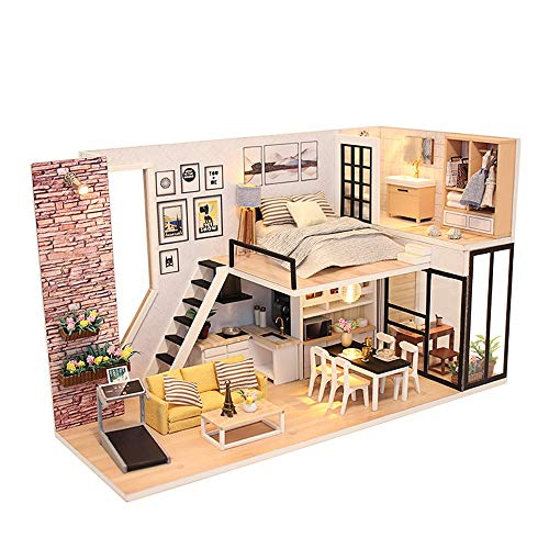 ZUINIUBI Doll House Kit DIY Miniature Loft Handmade for sale  Delivered anywhere in USA
