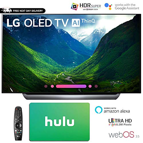 LG Electronics 4K Ultra HD Smart OLED TV 4K HDR AI Smart TV Hulu $100 Gift Card (65″ OLED65C8)