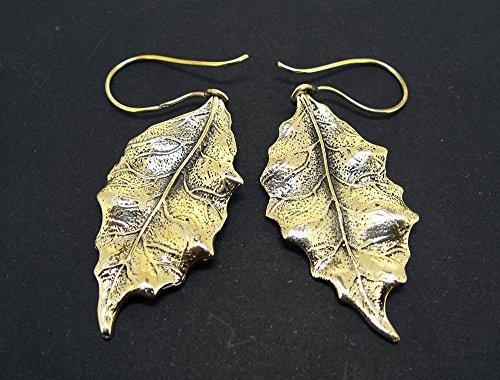 (Mineral Import - Earrings, Filigree in Bronze Leaf Shape 1-2958VC)