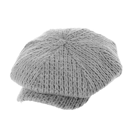 Gris Bakerboy Kr3555 Winter Boinas Withmoons Knit Hat Sombreros Peaked Womens Gorras Visor Beret Cap Bombines OpXX6qzw