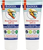 W.S. BADGER SPF 35 Sport Sunscreen Unscented (2 pack, White)