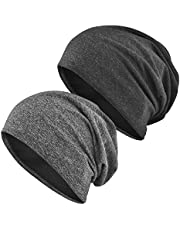 EINSKEY Beanie Hats, Men & Women Thin Slouch Baggy Hat for Sport, Chemo, Sleep, Hair Loss
