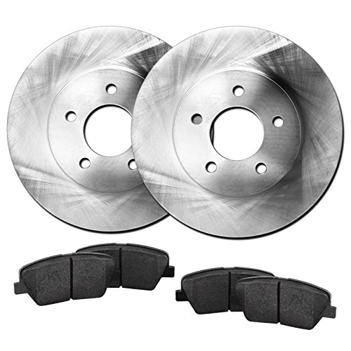 Fit Chrysler, Dodge Sebring, Stratus Rear Blank Brake Rotors+Ceramic Brake Pads