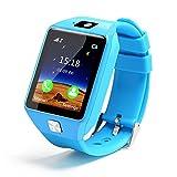 Yutang - Reloj inteligente para niños de 1,54 pulgadas, visualización táctil, rastreador GPS, anti-pérdida, Bluetooth, con cámara y tarjeta SIM para iOS y Android, Azul