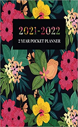 Two Year Pocket Planner Monthly Calendar 2021-2022 New