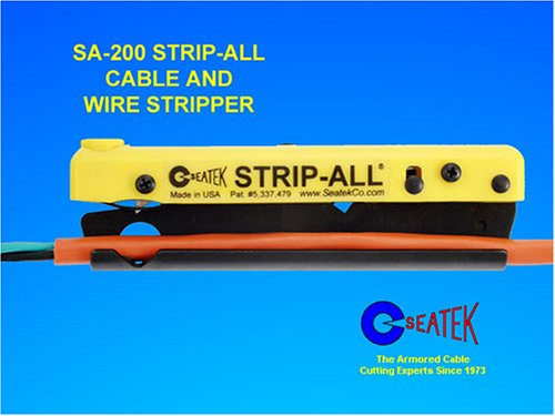 Seatek SA200SK Strip-All Cable & Wire Stripper with Wire Stripper, Utility Knife & A-201 Adapter