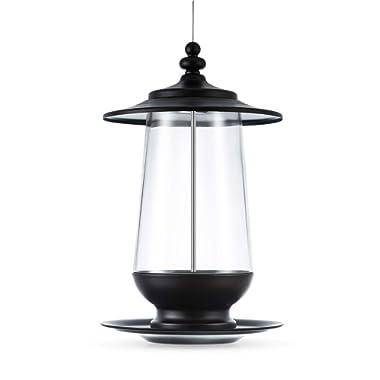 BOLITE 18007 Panorama Bird Feeder, Lantern Wild Bird Feeders, Vintage Glass Bird Feeder for Outside Satisfaction Guarantee, 4 lbs