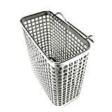 Small Square Stainless Steel Perforated Cutlery Basket Sink Rack Storage Silver