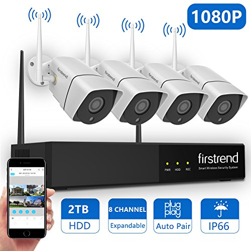 10. Firstrend 1080P Wireless Security Camera System, 8CH Wireless NVR System