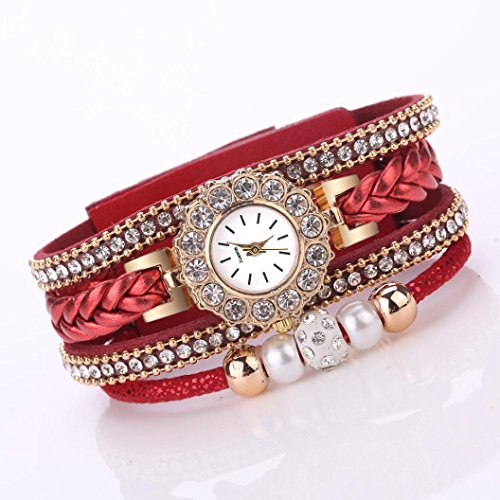 Paymenow Clearance Wrist Watches for Women Girls, 2018 New Luxury Rhinestone Pearl...