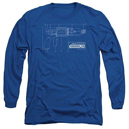 Warehouse 13 Science Fiction Fantasy TV Show Tesla Gun Adult Long Sleeve T-Shirt