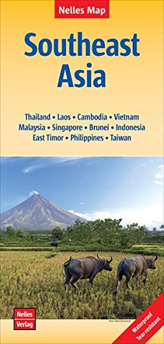 Southeast Asia Map (English and German Edition)