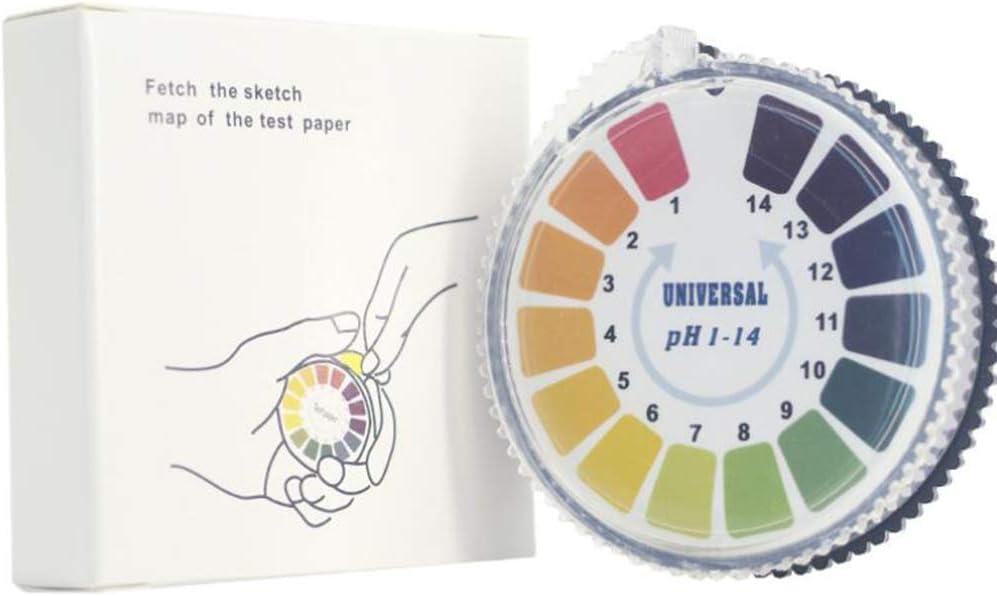 Ph prueba de papel Profesional 1-14 Calidad del Agua Soli funci/ón multi papel indicador de pH metro de prueba del medidor digital ph herramienta Inicio Accesorio para acuarios Piscinas