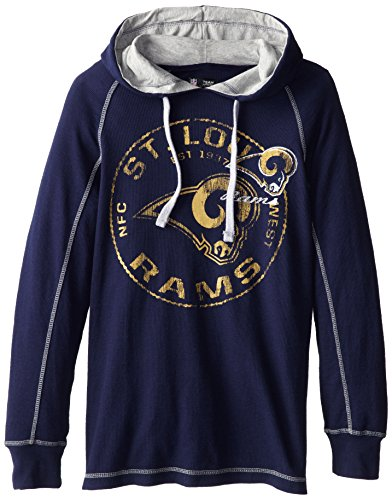 NFL St. Louis Rams Men's Team Spotlight II Long Sleeve Pull Over, Navy/Steel, (Louis Rams Long Sleeve)