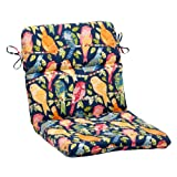 Pillow Perfect Indoor/Outdoor Ash Hill Rounded Chair Cushion, Navy