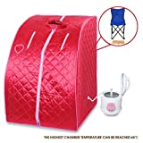 New 2L Home Steam Sauna Spa Full Body Slimming Loss Weight Detox Indoor Therapy Red