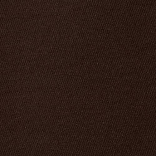 - Textile Creations Polyester/Cotton Twill Dark Brown Fabric by The Yard,