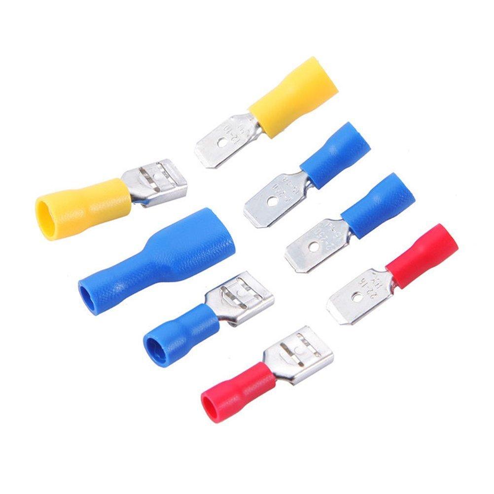 geekbox/® 280pcs el/éctricos Conectores Mixed poste de varios Kit con aislamiento Spade Conector Crimp Terminal Spade Anillo Set