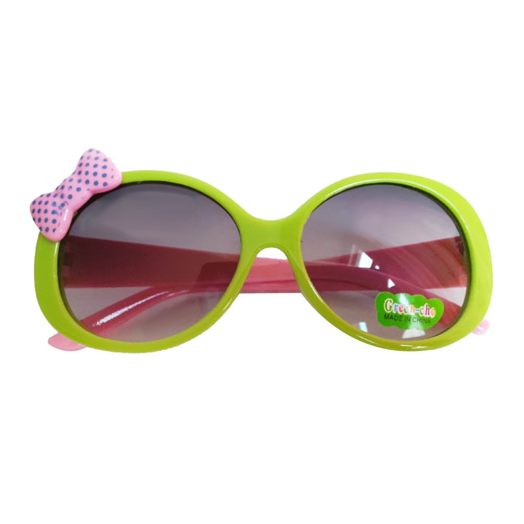 Kids Cute Fashion Bowknot Decoration Fun Sunglasses Gift Green Frame Generic STK0115018618