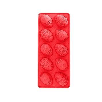 Moldes de Silicona para Repostería Huevos de Pascua, Sencillo Vida 10-cavidad Molde De Silicona para Magdalenas Muffins Pastel Mazapán Fondant Jelly ...