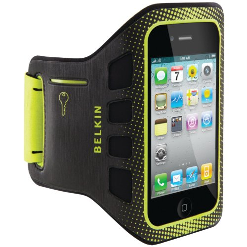 - Belkin Ease-Fit Sport Armband for iPhone 4 and iPhone 4S (Black/Limelight)
