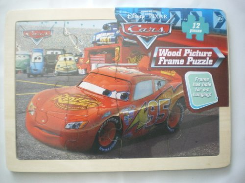 Disney Pixar Cars 2 Wood Picture Frame Puzzle, 12 Pieces, (PORTO CORSA) (Puzzle Cars Pixar Disney)