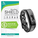 [6-PACK] RinoGear for Garmin Vivosmart HR Screen Protector [Active Protection] Full Coverage Flexible HD Invisible Clear Shield Anti-Bubble Film