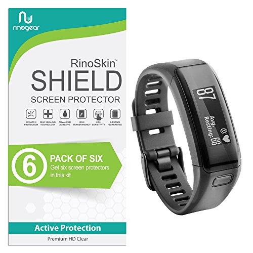 RinoGear for Garmin Vivosmart HR Screen Protector [6-Pack] Case Friendly Screen Protector for Garmin Vivosmart HR Accessory Full Coverage Clear Film