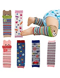 Evelin LEE 6-pack Baby Toddler Cozy Soft Kneepads Leg Warmers Protector Gift Set