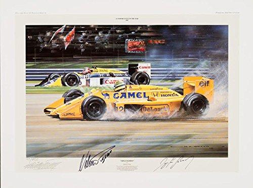Triple Champion Signed by Ayrton Senna & Nelson Piquet Freck' s Auto Art Inc.