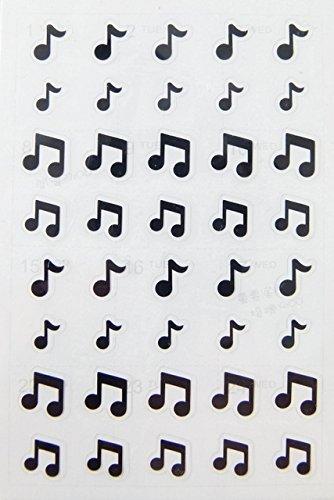FunMusicOnline temá tica musical notas de la mú sica Pegatinas - Negro