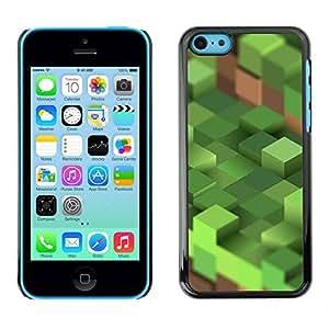 TopCaseStore caja del caucho duro de la cubierta de protección de la piel - Computer Mine Blocks Pc - Apple iPhone 5C