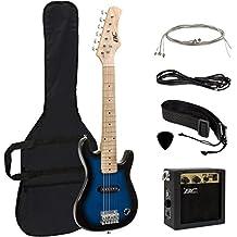 "Best Choice Products Electric Guitar Kids 30"" Blue Guitar W/ Amp, Case, Strap (Blue)"