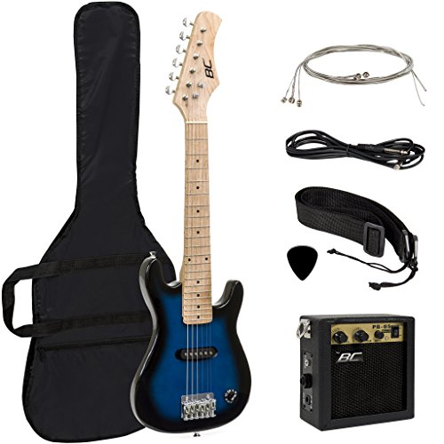 "Best Choice Products Electric Guitar Kids 30"" Blue Guitar W/"