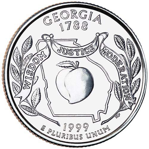 1999 S Clad Proof Georgia State Quarter Choice Uncirculated US Mint