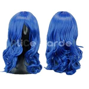 Long Blue Curly Cosplay Wig Vocaloid Series Mix Costume Wigs (Dark Blue)