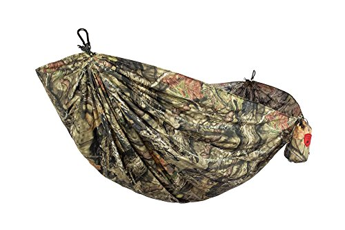 Grand Trunk Double Parachute Nylon Hammock, Mossy Oak: Portable with Carabiners and Hanging Kit - Perfect for Outdoor Adventures, Backpacking, and Festivals by Grand Trunk