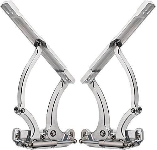 BILLET SPECIALTIES, 67 - 69 CHEVY CAMARO, PONTIAC FIREBIRD 65 - 73, CHEVELLE HOOD HINGES WITH NECESSARY GAS SPRINGS, MACHINED, SOUTHWEST SPEED N873610/3610HDSS