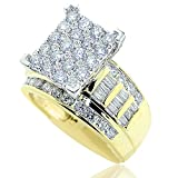 2.00cttw Diamond Wedding ring 3 in 1 Style 10K White Or Yellow Gold 12mm Wide(i2/i3, i/j)