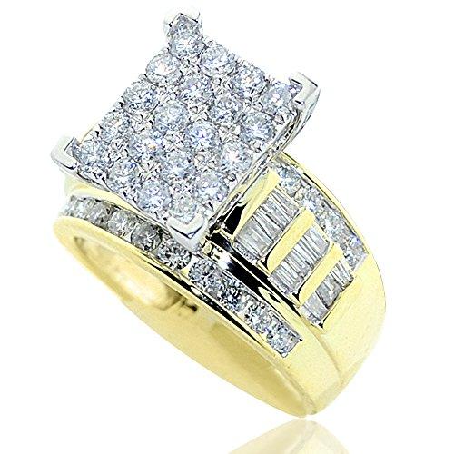 2 00ctw Diamond Wedding Style Yellow
