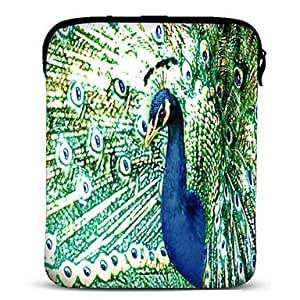 "hao Peacock Neoprene Tablet Sleeve Case for 10"" Samsung Galaxy Tab2, iPad, Motorola Xoom"