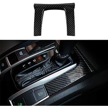 3pcs Carbon Fiber Center Console Moulding Cover For Honda Civic Si 2016-2018