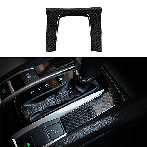 Honda Carbon - Thenice for 10th Gen Civic ABS Plastic Carbon Fiber Style Gear Panel Trim Shift Box Decoration Cover for 2016 2017 2018 2019 Honda Civic -Automatic Transmission